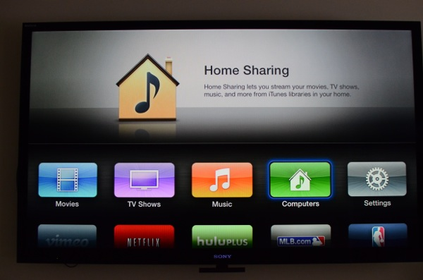 Using iTunes to home sharing
