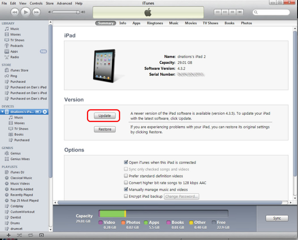 iOS Update via iTunes