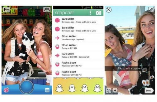 Download Snapchat message app for iOS