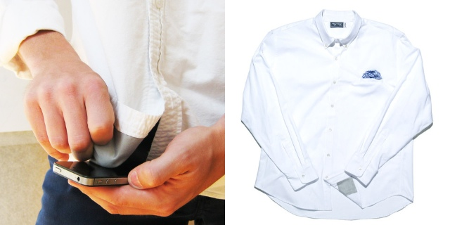 iPhone Friendly Shirt With Microfiber Tails And Tailored Pockets