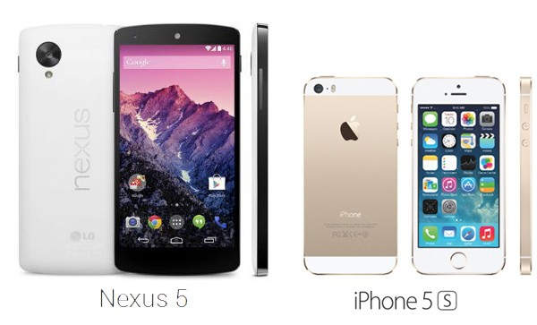 Apple iPhone 5S Vs Google Nexus 5; Who Wins?