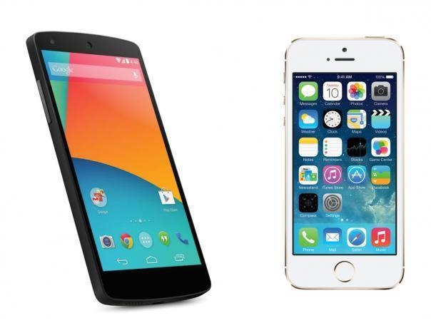 Apple iPhone 5S Vs Google Nexus 5; Who Wins