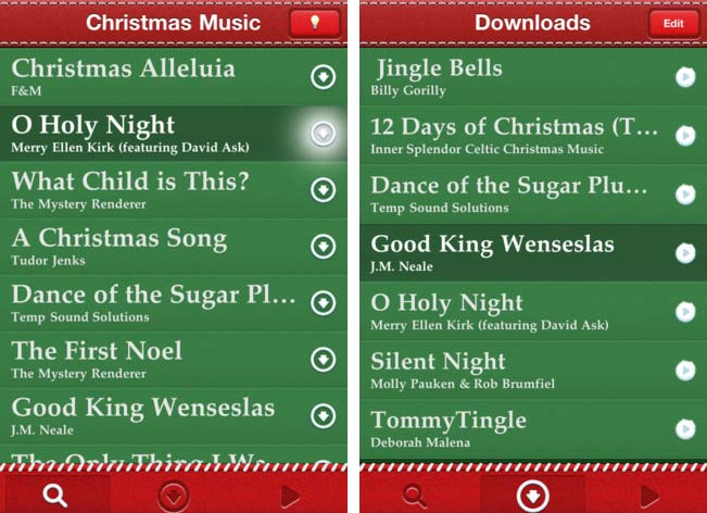 Christmas Music iOS App Comes with 10,000 FREE Christmas Songs