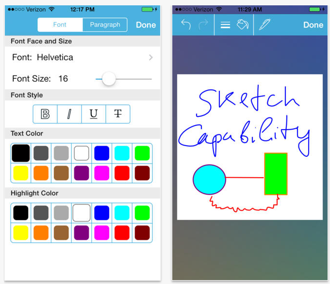 WritePro for iPhone