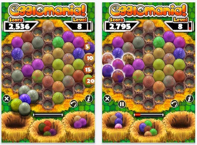 Egglomania iPhone game